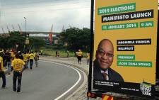 Thousands of ANC supporters flocked to the Mbombela stadium in Mbombela, Mpumalanga on 11 January 2014 for the presentation of the ANC's 2014 election manifesto. Picture: Reinart Toerien/EWN