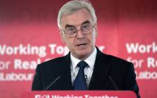 FILE: Britain's opposition Labour Party Shadow Chancellor of the Exchequer John McDonnell. Picture: AFP.
