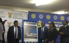 Police Minister Fikile Mbalula officially launched a six-point plan aimed at addressing the scourge of gender-based violence on 11 August 2017. Picture: Thando Kubheka/EWN