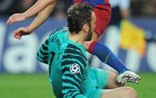 Arsenal's Spanish goalkeeper Manuel Almunia. Picture: AFP