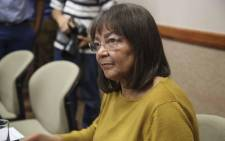 Patricia de Lille addressing the media in Cape Town following the DA's decision to rescind her membership on 8 May 2018. Picture: Cindy Archillies/EWN