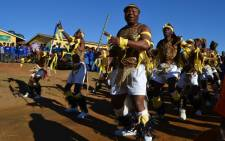 A ceremony takes place at Qunu Junior Secondary School, which Nelson Mandela attended, before local prisoners do their 67 minutes by painting the classrooms on 18 July 2012. Picture: Aletta Gardner/EWN