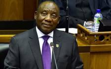 South African President Cyril Ramaphosa delivers the State of the Nation Address at the Parliament on 16 February 2018. Picture: AFP