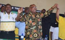 ANC president Jacob Zuma (centre) at a party event in Kagiso, Johannesburg on 5 November 2017. Picture: @MYANC/Twitter