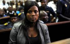 Helen Moreroa, one of the four business associates of axed ANC Youth League leader Julius Malema, appears in the Polokwane Magistrate's Court on Tuesday, 25 September 2012. Picture: Werner Beukes/SAPA.