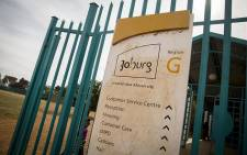 A City of Johannesburg sign hangs outside the municipal offices for Ennerdale south of Johannesburg. Picture: Reinart Toerien/EWN