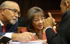 Cape Town Mayor Patricia de Lille with her legal team before court starts. Picture: Bertram Malgas/EWN