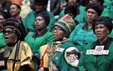 ANC Women's League members saying a prayer during the memorial service for Winnie Madikizela-Mandela. Picture: Ihsaan Haffejee/EWN.