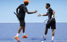 USA's Rajeev Ram (L) and South Africa's Raven Klaasen (R). Picture: AFP.