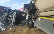 At least 18 school pupils were killed in a taxi accident in Bronkhorstspruit on 21 April 2017. Picture: ER24.