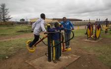 Children play in a public park in Duduza on 22 February 2017 following the closure of some schools due to protests in the area over service delivery. Picture: Reinart Toerien/EWN