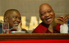 FILE: South African president Jacob Zuma and Blade Nzimande. Picture: EWN.