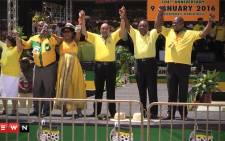 FILE: The ANC declared 2016 as the year of advancing people's power at the January 8 statement in Rustenburg. Picture : Kgothatso Mogale/EWN.