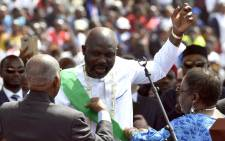Liberia's President-elect and former football star George Weah attends his swearing-in ceremony on 22 January 2018 in Monrovia. Picture: AFP
