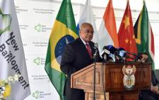 President Jacob Zuma presides over the official launch of the African Regional Centre of the Brics New Development Bank in Sandton. Picture: GCIS.