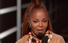 A screengrab of Janet Jackson accepting her award at the 2018 Billboard Music Awards.