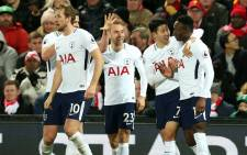 FILE: Tottenham players celebrate a goal. Picture: @SpursOfficial/Twitter