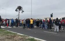 Parkwood residents seen during a housing protest on 20 May 2018. Picture: Kaylynn Palm/EWN