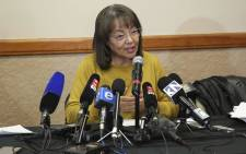 Patricia de Lille addresses the media in Cape Town following the DA's decision to rescind her. Picture: Cindy Archillies/EWN