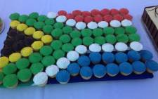 Cup cakes make up the South African flag at celebrations being held at the Nonkululeko Day Care Centre in Salvokop, Pretoria. Picture: Barry Bateman/EWN.
