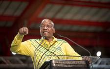 FILE: President Jacob Zuma addresses delegates at the ANC's 54th national conference on 16 December 2017. Picture: Thomas Holder/EWN
