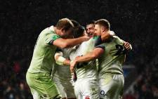 England players celebrate a win over Australia at Twickenham on 18 November 2017. Picture: @EnglandRugby/Twitter