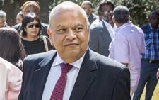 Pravin Gordhan at Ahmed Kathrada's funeral on 29 March 2017. Picture: Reinart Toerien/EWN.
