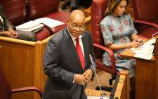 President Jacob Zuma responds to a question put to him at the NCOP Q&A in Cape Town. Picture: Anthony Molyneaux/EWN