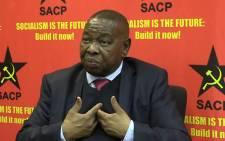 FILE: SACP general secretary Blade Nzimande. Picture: Kgothatso Mogale/EWN.