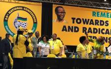 ANC leaders and other members at the party's 54th national conference at Nasrec in Johannesburg on 18 December 2017. Picture: EWN.