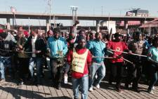 The National Union of Metalworkers of South Africa (Numsa) members during strike action in Johannesburg on 1 July 2014. Picture: Sebabatso Mosamo/EWN.