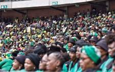 Some of the crowd that attended the memorial service for Winnie Madikizela-Mandela at Orlando Stadium. Picture: Ihsaan Haffejee/EWN