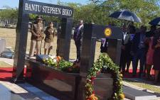The Bantu Stephen Biko memorial grave site in King William's Town in the Eastern Cape. Picture: @SAgovnews/Twitter
