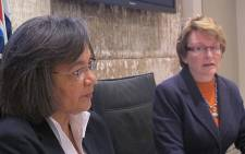 Western Cape Premier Helen Zille and Cape Town Mayor Patricia de Lille discuss service delivery protests on 15 August 2012. Picture: Regan Thaw/EWN