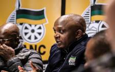 ANC Tshwane Caucus spokesperson Lesego Makhubela speaks to the media on 17 April 2018. Picture: Kayleen Morgan/EWN