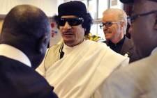 Libyan leader Muammar Gaddafi. Picture:AFP