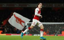 Arsenal's Hector Bellerin celebrates his stoppage-time stunner that earned Arsenal a 2-2 draw in a scintillating derby against Chelsea on 3 January 2018. Picture: Facebook.