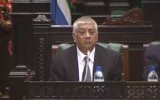 A screengrab of Professor Mohammed Jahed, the director of Parliament's Budget Office. Picture: YouTube.