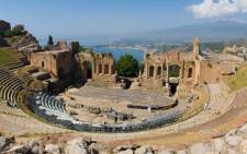 A general view of the Greek Theatre of Taormina, where leaders from the world's major Western powers will hold their G7 summit. Picture: Twitter/@g7.