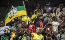 ANC members and supporters of Winnie Madikizela-Mandela waved flags, sang and danced and were predominantly jovial at the UJ Soweto Campus to mark Madikizela-Mandela's death and memorial. Picture: Thomas Holder/EWN.