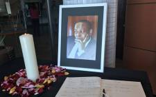 A picture of late goverment spokesperson Ronnie Mamoepa during a memorial service in Pretoria on 26 July, 2017. Picture: Masego Rahlaga/EWN