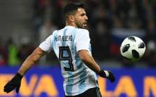 Argentina forward Sergio Aguero in action during an international match. Picture: AFP