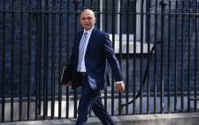 Britain's Home Secretary Sajid Javid arrives at 10 Downing Street in central London for the weekly cabinet meeting on 8 May 2018. Picture: AFP.