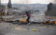Student protest in Alex. Picture: Ihsaan Haffejee/EWN
