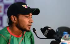 Bangladeshi cricket captain Mushfiqur Rahim on 3 September 2017. Picture: AFP.