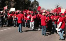 Members of the National Union of Metalworkers of South Africa (Numsa) picket at Megawatt Park, Sunninghill, northern of Johannesburg on 2 July 2014. Picture: Sebabatso Mosamo/EWN.