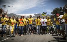 FILE: ANC members march in Cape Town. Picture: Thomas Holder/EWN.