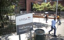 The entrance of the Unisa Sunnyside campus. Picture: Ihsaan Haffejee/EWN.