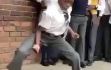 Pupils dancing to Gobisiqolo. Picture: Screengrab.
