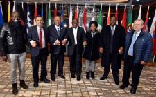 Deputy President Cyril Ramaphosa with the South African government delegation ahead of the World Economic Forum 2018 Annual Meeting in Davos, Switzerland. Picture: GCIS.